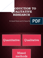 Introduction to Qualitative Research and Nursing 2018 (1)