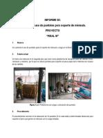 Informe de Produccion 02 - Soporte de Mensula Usando Puntales