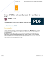 Parse SVG Files to Bezier Curves in C++ and Save to PDF