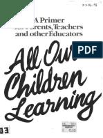 All Our Children Learning Benjamin Bloom 1982 290pgs EDU.sml