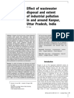 Effect of Waste Water Disposal and Extent of Industrial Pollution in and Around Kanpur, Uttar Pradesh, India