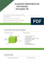 Proyecto Simulación Matemática de Yacimientos