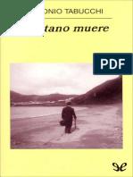Tabucchi, Antonio - Tristano Muere
