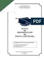 Compendio -Manual de Implentacion de Policia Comunitaria