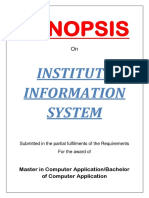 09 - Institute Information System-Synopsis