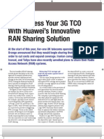 huawei's innovative ran sharing solution