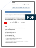 Deduccion de Ecuaciones de Flujo de Gas
