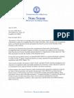 Senate Democratic Caucus letter