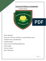 Caribbean Studies IA -Jamol