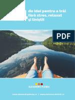 44 de Idei Pentru a Trai Fara Stres Relaxat Si Linistit