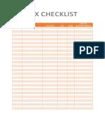 BIR Tax checklist template
