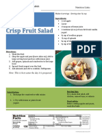 crisp fruit salad - meal kit