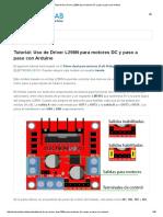 Tutorial Uso Driver L298N Para Motores DC y Paso a Paso Con Arduino