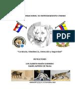 Manual Paraguay Primer Curso Internacional de Adiestramiento Canino