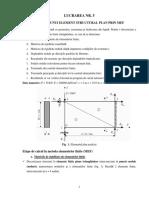 L5 - Analiza Unui Element Structural Plan Prin MEF-Model de Calcul