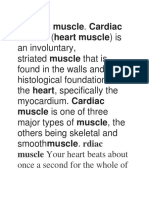 Cardiac Muscle Notes