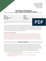 ot assessment template - selpa
