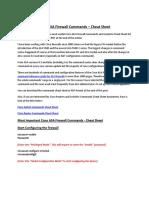 Cisco ASA Firewall Commands Cheat Sheet