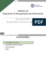 Evaluación en Recuperación de Información