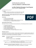 Flatiron District Steam Pipe Explosion Emergency Loan