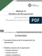 Modelos de Recuperación