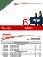 Lista de Precios Procables 62