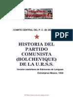 Comite Central Del Pc b de La Urss Historia Del Partido Comunista Bolchevique de La Urss 1938