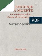 El Lenguaje y la muerte. Giorgio Agamben