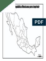Mapa de La Republica Mexicana Sin Nombres