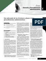 Uso Adecuado de Los Términos y Plazos en Los Proc Adm
