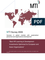 MTI_Survey_2009_Success in Global Markets With Systematical Personnel and Organizational Development