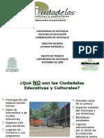 Presentación General de Ciudadelas 2010