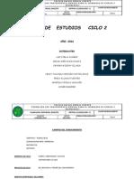 Plan de Estudios Ciclo 2. 2016