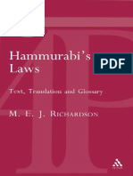 [M. E. J. Richardson] Hammurabi's Laws