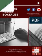 Informe redes sociales para Morena en la Cámara de Diputados