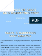 Analysis of Sales and Marketing Cost