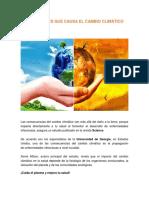 Enfermedades Que Causa El Cambio Climático (Juan P. Gordon)