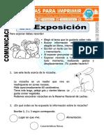 Ficha de La Exposicion Para Segundo de Primaria
