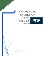 241527614 Informe Aforo Del Rio Chonta