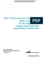 Nec Liquid Filled Transformers