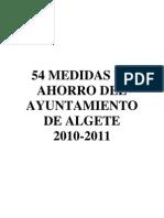 Plan de Medidas de Ahorro Del Ayuntamiento de Algete Definitivo Wym