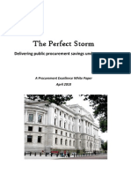 The Perfect Storm - UK Government Procurement After the Election