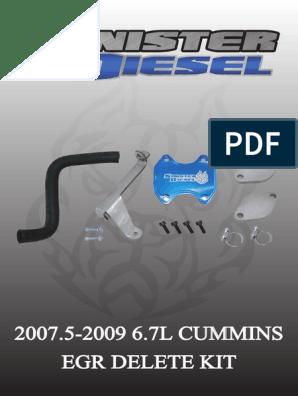 Sd-egrd-6 7c-07 (6 7l 07-09' Cummins Egr Delete) | Throttle