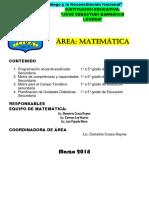 Programación Curricular Anual Matemática Secundaria 2018 -Completo-Ccesa007