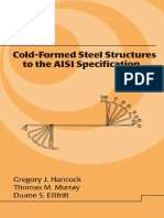 Cold Formed Steel Structures to the AISI Specification Civil and Environmental Engineering