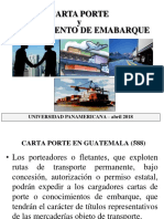 1 CARTA PORTE Y CONOCIM EMBARQUE abril 2018.ppt