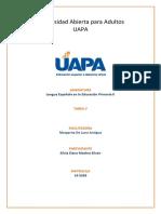 Lengua Española en La Educacion Primaria II. Tarea 5