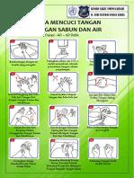 Stiker 6 Langkah Cuci Tangan Handwash 150 Lembar