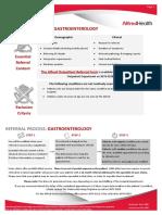 Gastroenterology Referral Guidelines