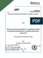 Analisis de la estructura horizontal y composición florística de dos bosques secundarios en la carretera Iquitos- Nauta, Loreto, Perú.pdf
